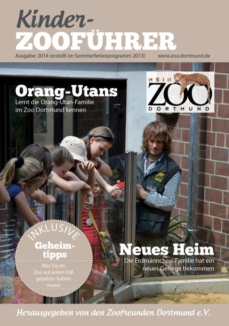 Die Titelseite des Kinder-Zooführers