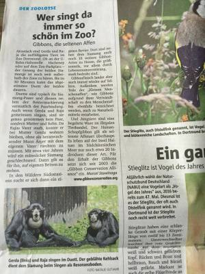 """Meine Kolumne """"Der Zoolotse"""" vom 8. Juni 2016."""